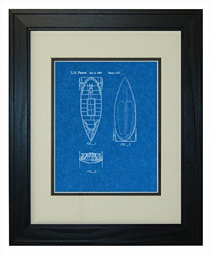 Star Wars Tatooine Skiff Patent Art Blueprint Print in a Solid Pine Wood Frame with a Double Mat 13 x 19 -- Find out more about the great product at the image link.