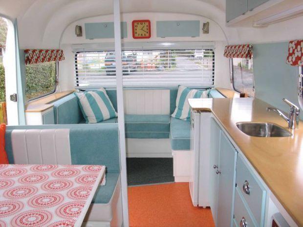 vintage caravan interior                                                                                                                                                     More