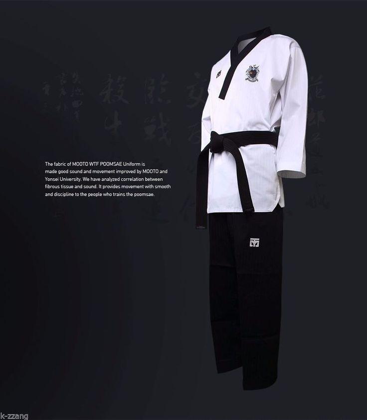 Mooto WTF Poomsae Dan Uniform Male Kukkiwon Korean Taekwondo Dobok Tae Kwon Do #mooto