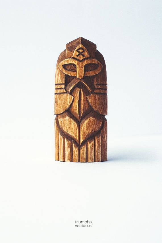 Wooden figurine - Odin. Hand-carved wooden statue Wuotan / Wodan. A chic Scandinavian Gift for him / Gift for her