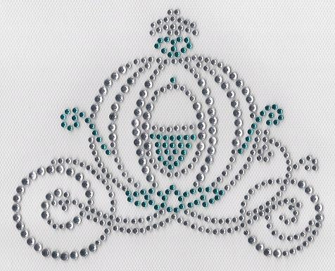 Cinderella Carriage Rhinestone Transfer Do it by RhinestonePeace, $8.75