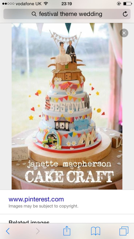 Love this festival style wedding cake...