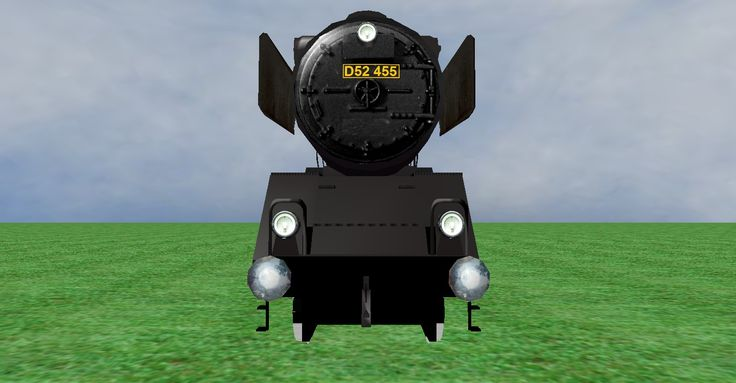 JNR D52 steam loco frontview