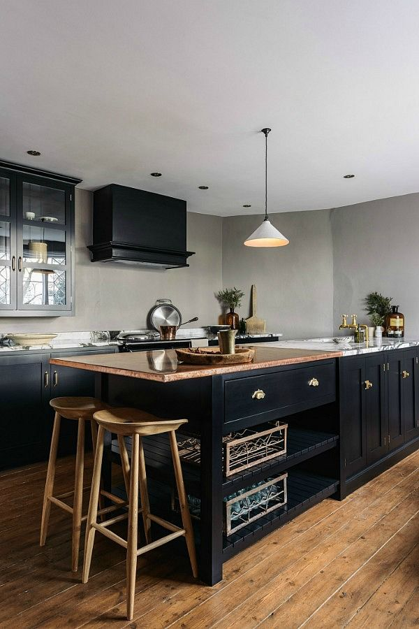 Kitchens Deliciously Dark And Full Of Rustic Touches Black
