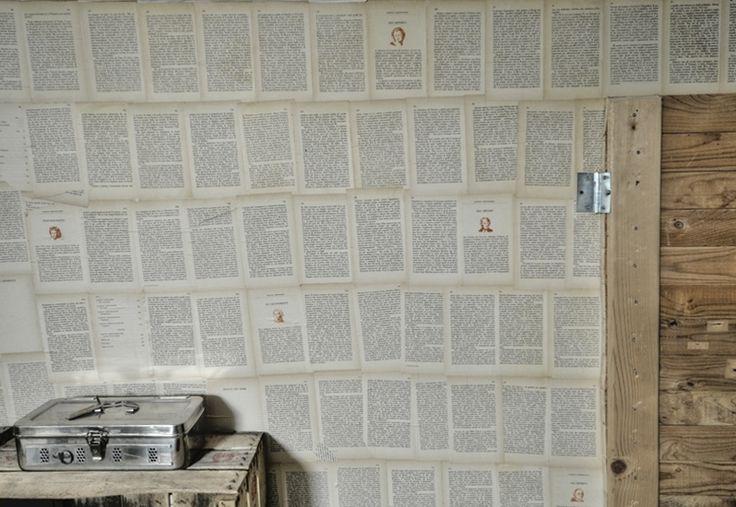 carta da parati o pagine di un vecchio libro?  MY WORK - LUCA BLAST FORLANI  Offices In Ancona, Italy, by IndastriaCoolHidea Studio | www.indastriacoolhidea.com  |  photo © Luca Forlani.