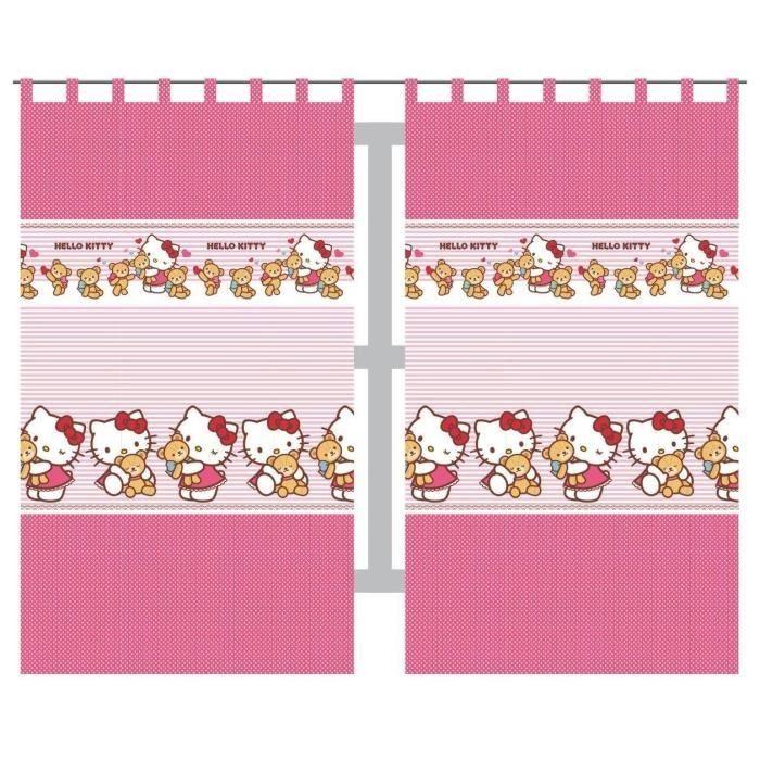 Hello Kitty Tapete Auf Rechnung : Hello Kitty Kinder Vorhang Marke: DETEXPOL Vorhang Set Motiv Hello