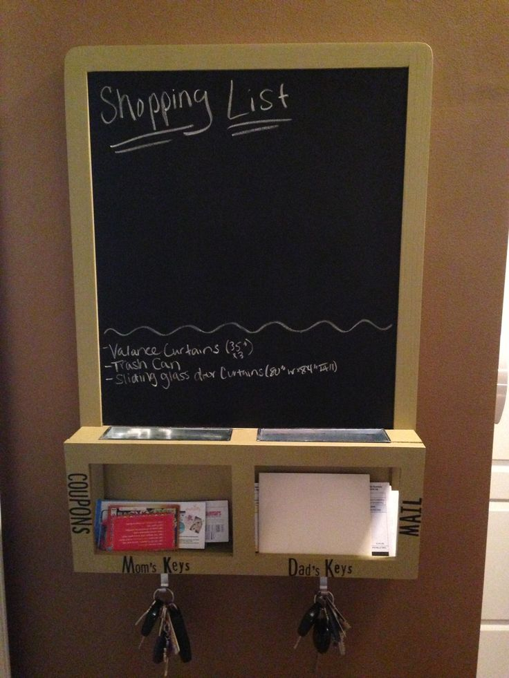 Ikea Chalkboard With Mail Slots And Key Holders Paint