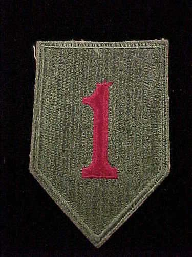 Original WW2 U s Army 1st Infantry Division WWII Insignia Cloth Patch | eBay