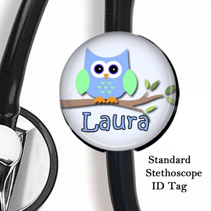 Owl Stethoscope ID Tag, Stethoscope Name Tag, Nurse Stethoscope Name Tag, Respiratory Stethoscope ID Tag, MD Stethoscope Tag, Customizable by sparklinghope on Etsy https://www.etsy.com/listing/230626010/owl-stethoscope-id-tag-stethoscope-name