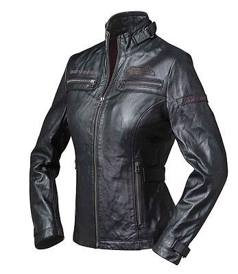BMW Motorrad Leder Jacke Heritage Damen, Gr: S, schwarz