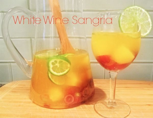 White Wine Sangria Recipe #summersecretscontest  This, on the deck, paired with the Chicken Kabobs.  Perfect summer evening!