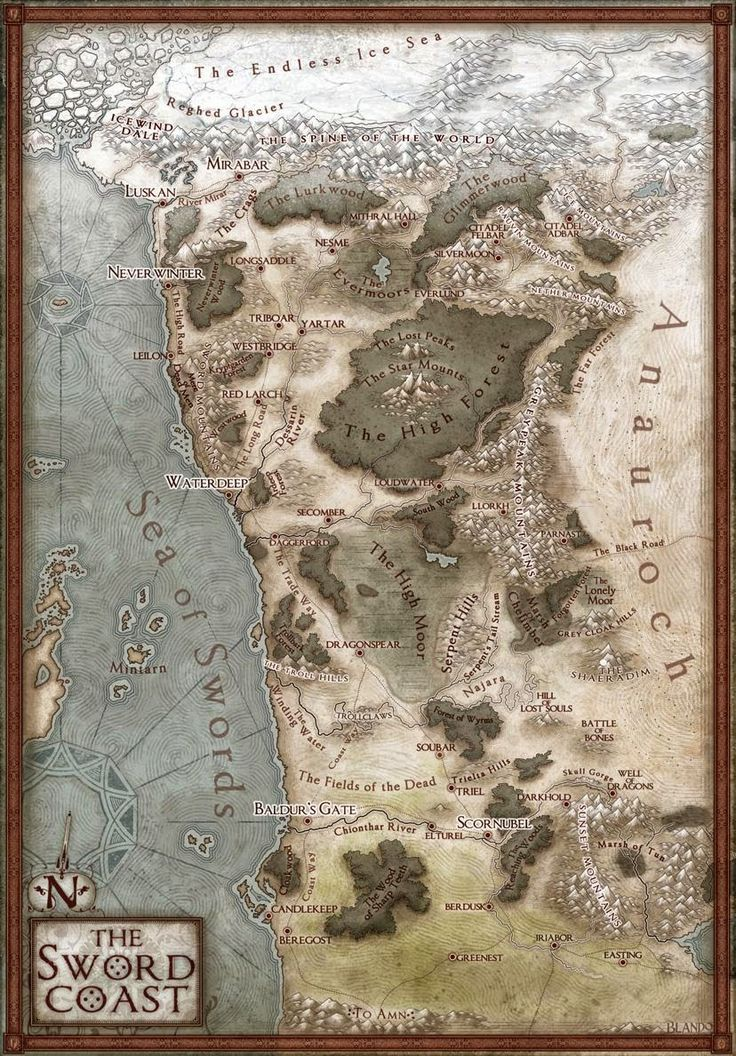 My Realms: A New Map of the Sword Coast - UPDATE Hex Map!