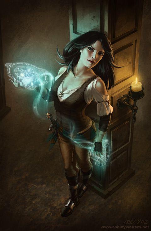 Sable casting a spell (B3: Break of the Storm) ~Wendy Hamlet (Rune Spell by `lithriel on deviantART)