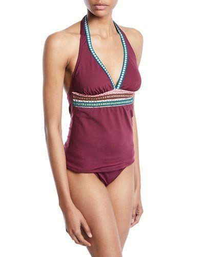 3ab2850cb0d73 La Blanca Running Stitch Halter Tankini Swim Top | Products in 2019 ...