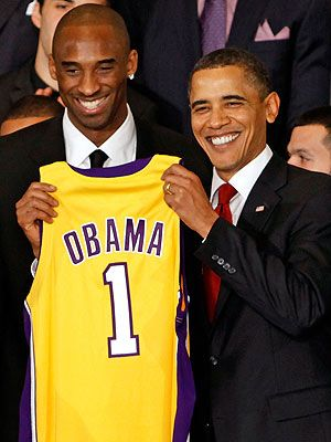 Kobe Bryant: President Obama Talks Trash on the Basketball Court - Barack Obama, Kobe Bryant : People.com
