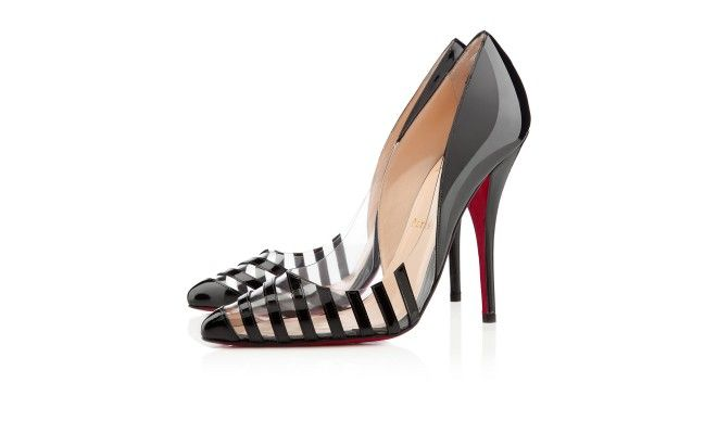 PIVICHIC PATENT/PVC 120 mm, PVC, Black/Transparent, Women Shoes