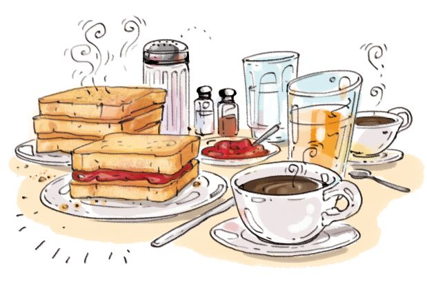 Desde Cartoon Cooking: Aquella Tostada de Mermelada..extraños gustos, a causa de pelis..