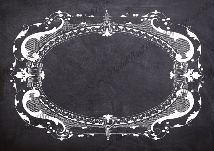 Chalkboard Frame Victorian Border 001 Clip Art Retro Ornate Chalkboard Commercial Use by DigitalPrintStore on Etsy