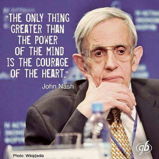 A quote from Dr. John Forbes Nash Jr.                                                                                                                                                                                 More