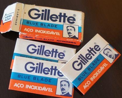 """Lâminas """"Gillette""""."""