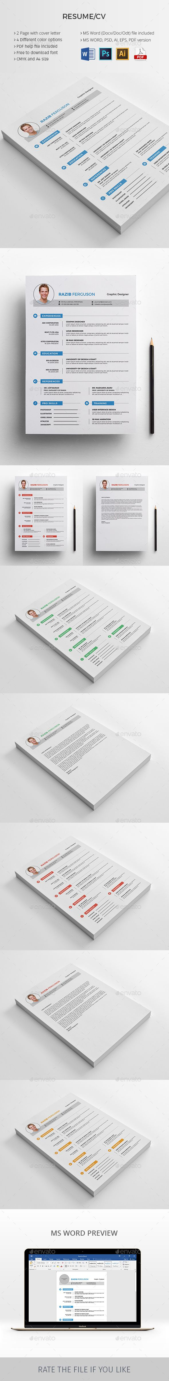 797 Best Resume Cv Templates Images On Pinterest Design Resume