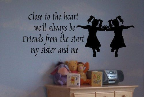 Aliexpress.com : Buy Twins Sisters Cute Silhouette wall sticker girl room decoration living room wall pictures bedroom stickers on the wall  from Reliable vinyl wall clock decal suppliers on Temptation Angels Home