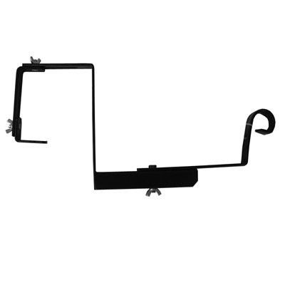 Best 12 Inch Adjustable Railing Bracket In Black Home Depot 400 x 300