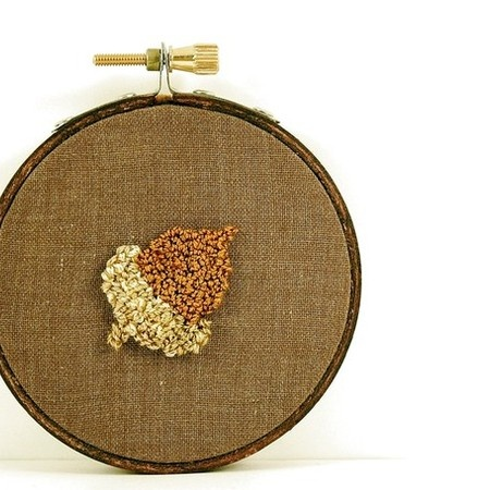 Acorn Punch Needle Embroidery by erinf115