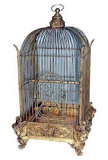 gold victorian birdcage