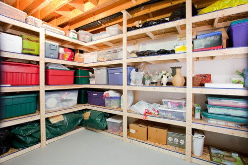 This is another area that doesn't always need closed storage, especially if it's a space dedicated to storage. Stock up on budget racks and store everything you don't want to part with but don't actually use. If you apply the Pareto principle, you probably use only 20 percent of your stuff. So that means you can store the other 80 percent.