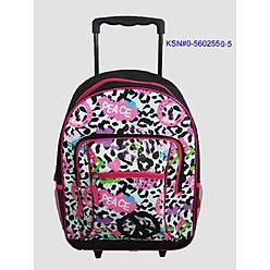$21.24 Girls Rolling Backpack - Leopard                                                                                                 at mygofer.com