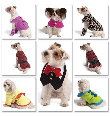 M5998 | Pet Clothes | Crafts/Dolls/Pets | McCall's Patterns