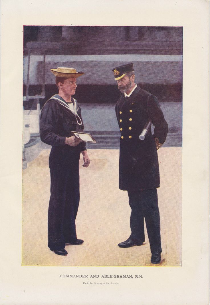ANTIQUE PRINT Boer War 1900 Commander and Able-Seaman Royal Navy South Africa