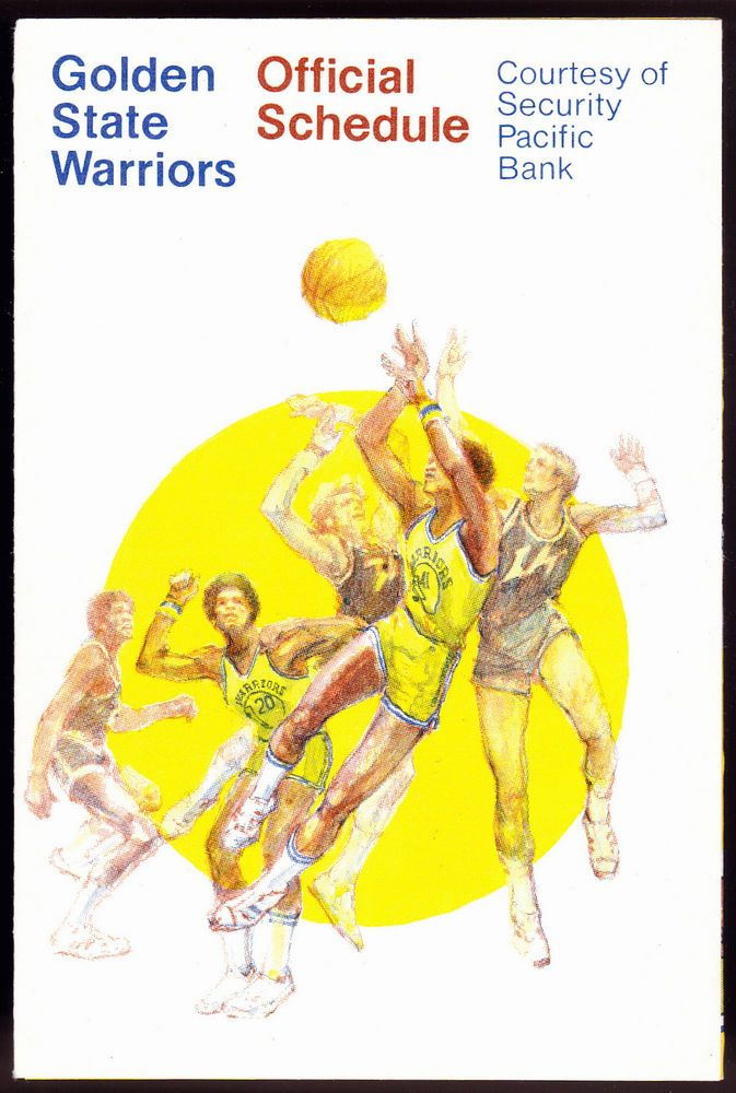 1976-77 GOLDEN STATE WARRIORS SECURITY PACIFIC BANK BASKETBALL POCKET SCHEDULE #SCHEDULE