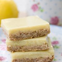 Lemon Cream Bars...Vegan, Gluten Free, Soy Free, and Very Low Sugar