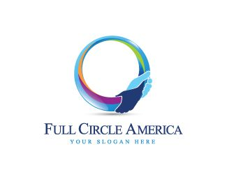 Full Circle America Logo design - This logo is perfect for any industry of services, aging and caring for elders, health