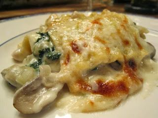 Boulud's Lasagna with Chicken, Wild Mushrooms, and Fontina Cheese ...
