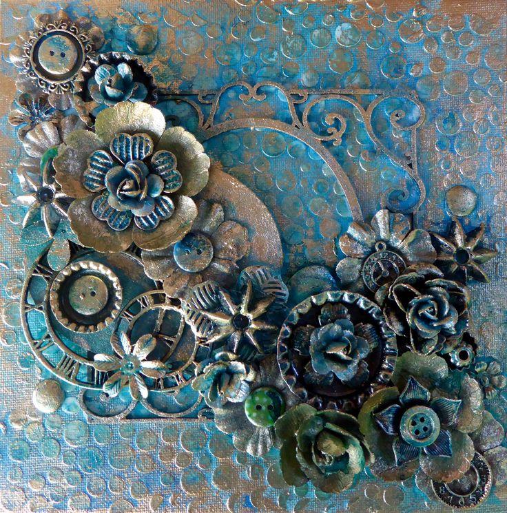 Mixed Media Canvas   Scrapbook.com