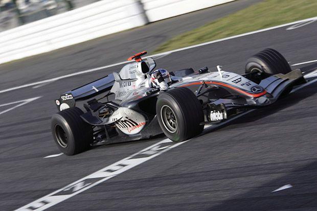 Kimi Raikkonen wins the 2005 Japanese Grand Prix at Suzuka - one of the great F1 races of modern times.