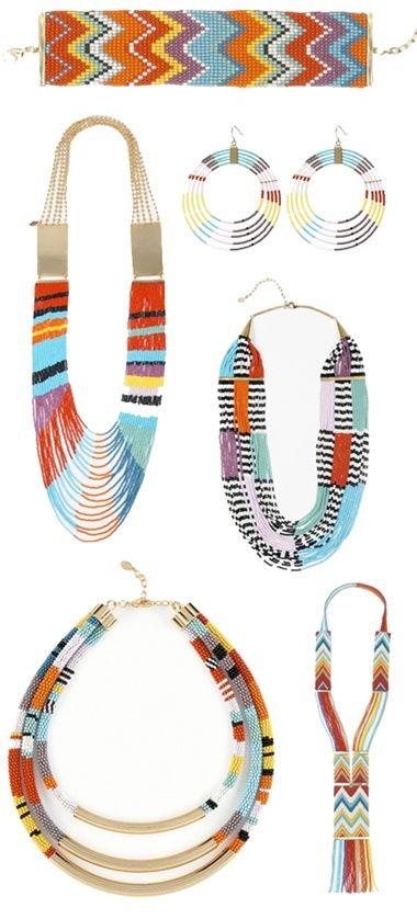 www.cewax.fr love this statement necklace ethno tendance, style ethnique, #Africanfashion, #ethnicjewelry - CéWax aussi fait des bijoux : http://www.alittlemarket.com/collier/fr_collier_plastron_multi_rang_ethnique_en_tissu_africain_beige_prune_jaune_-15921837.html - nOir jewelry: nOir jewelry