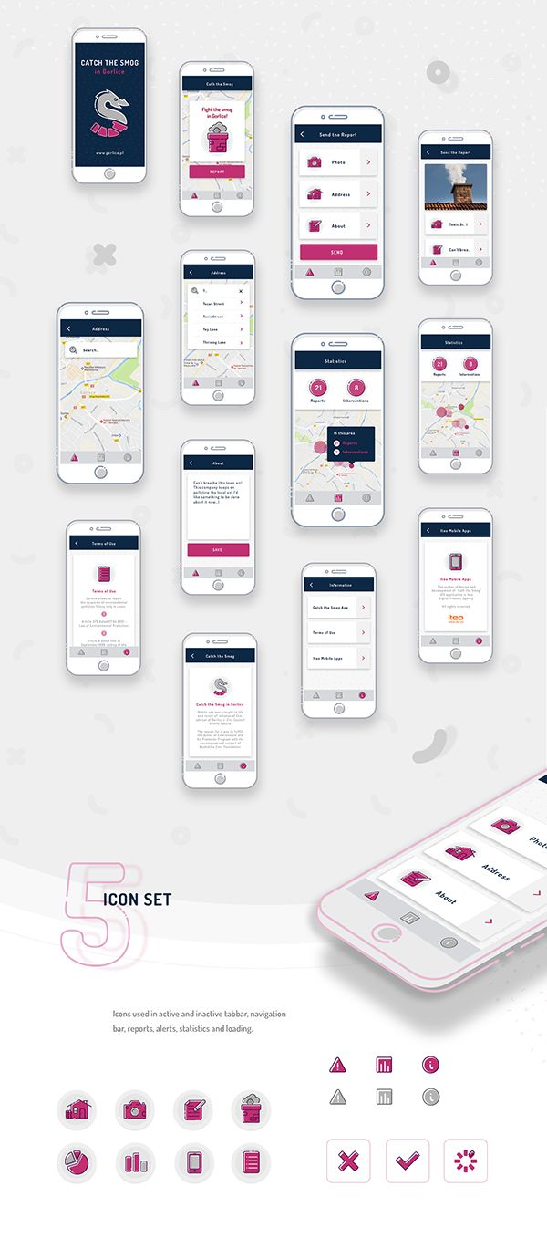 Catch the SMOG  |  iOS & Android App on Behance