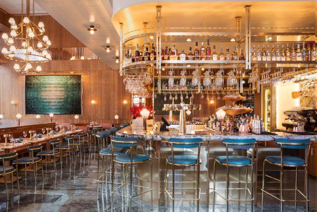 Fantastic bespoke fittings created for Aquavit restaurant, London