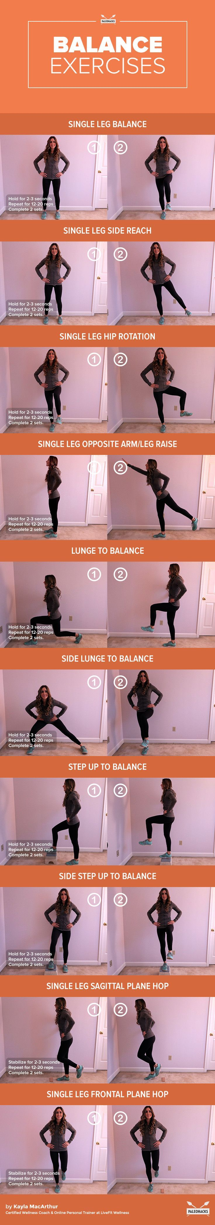 10 Balance Exercises to Help You Master ALL Workouts
