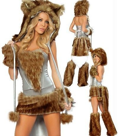 Find More Costumes & Accessories Information about Free Shipping fancy Big Tail Wolf Stage Costumes nightclub Dance Girl 5 items set costumes Wholesale Drop Ship US3189,High Quality Costumes & Accessories from URA Co.,Ltd.(No.3) on Aliexpress.com