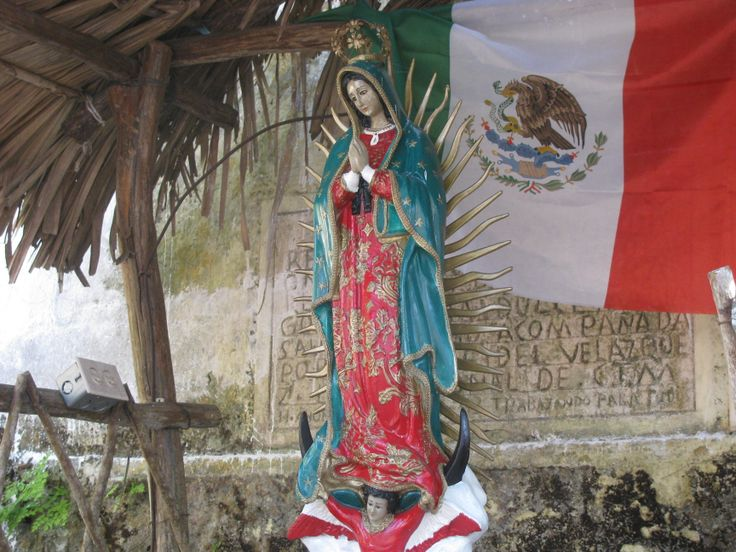 Image of Our Lady of Guadalupe, Valladolid, Yucatan. MADONNAS OF MEXICO.