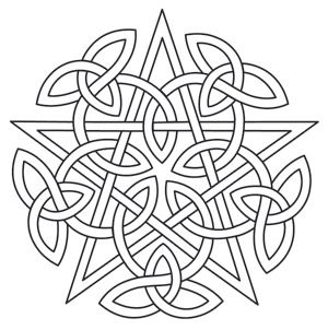 Knotwork Pentacle design (UTH6626) from UrbanThreads.com