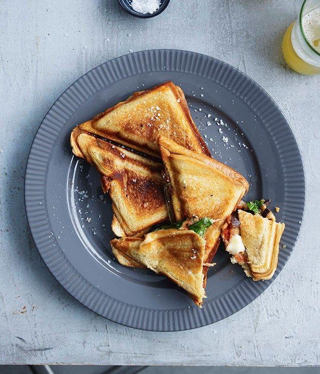 Eggplant parma jaffles recipe   Gourmet Traveller recipe :: Gourmet Traveller
