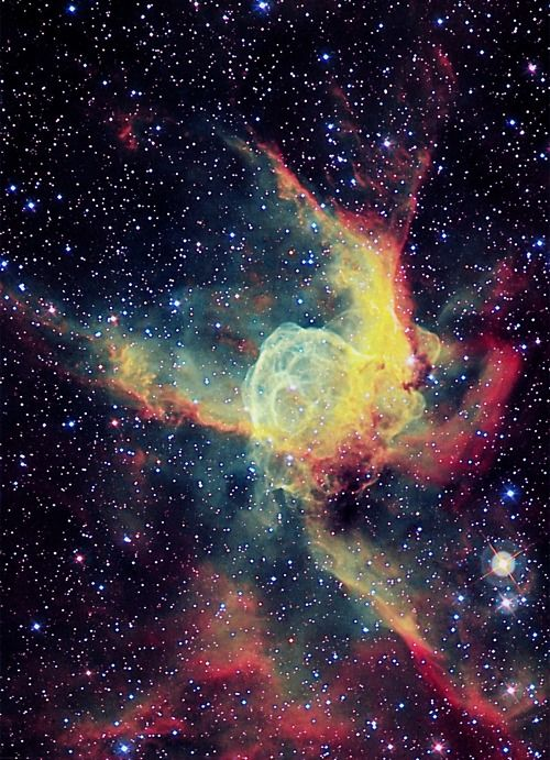 Thor's helmet nebula -just think for a second how small we are. Think about this…