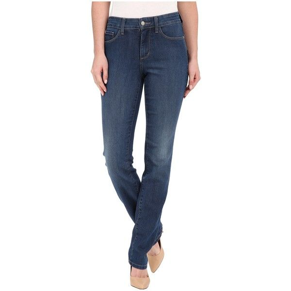 NYDJ Samantha Slim Jeans in Cleveland Women's Jeans ($124) ❤ liked on Polyvore featuring jeans, slim fit jeans, skinny leg jeans, blue skinny jeans, nydj skinny jeans and super skinny jeans