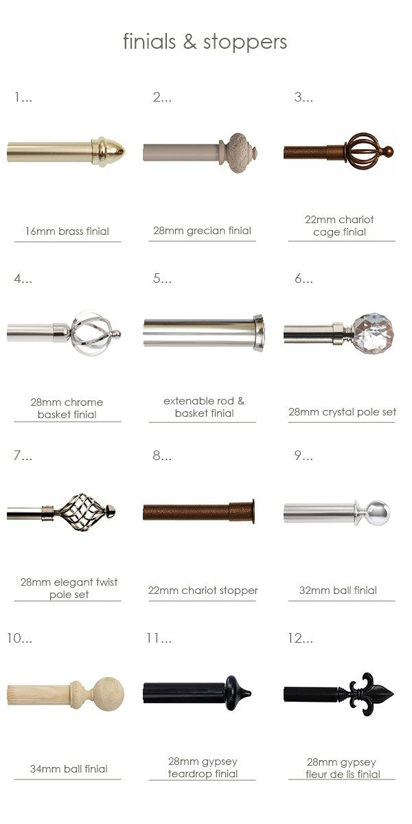 Taking a long hard look at curtain hardware - breaking down the curtain hardware for you! #finishingtouchessa #madetomeasure #homedecor #blinds #curtains #home #pole#decor #homedecor #furnishing